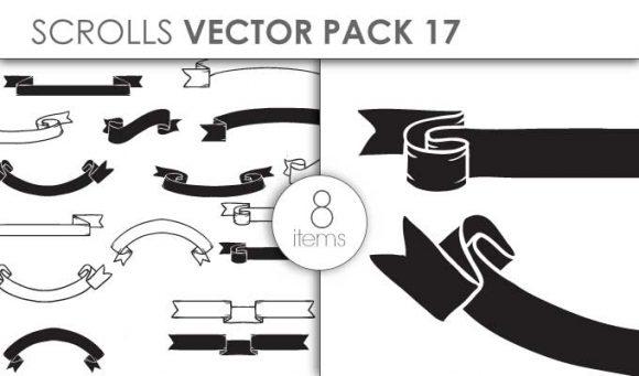 Vector Scrolls Pack 17 Vector packs vector