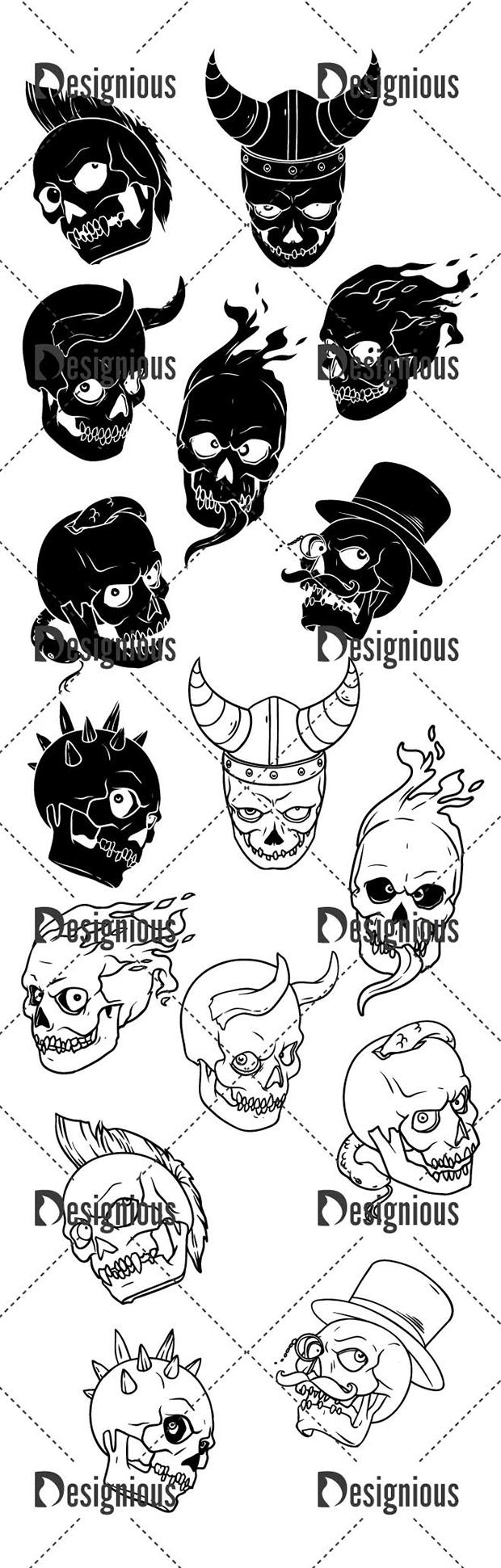 Vector Skulls Pack 39 6
