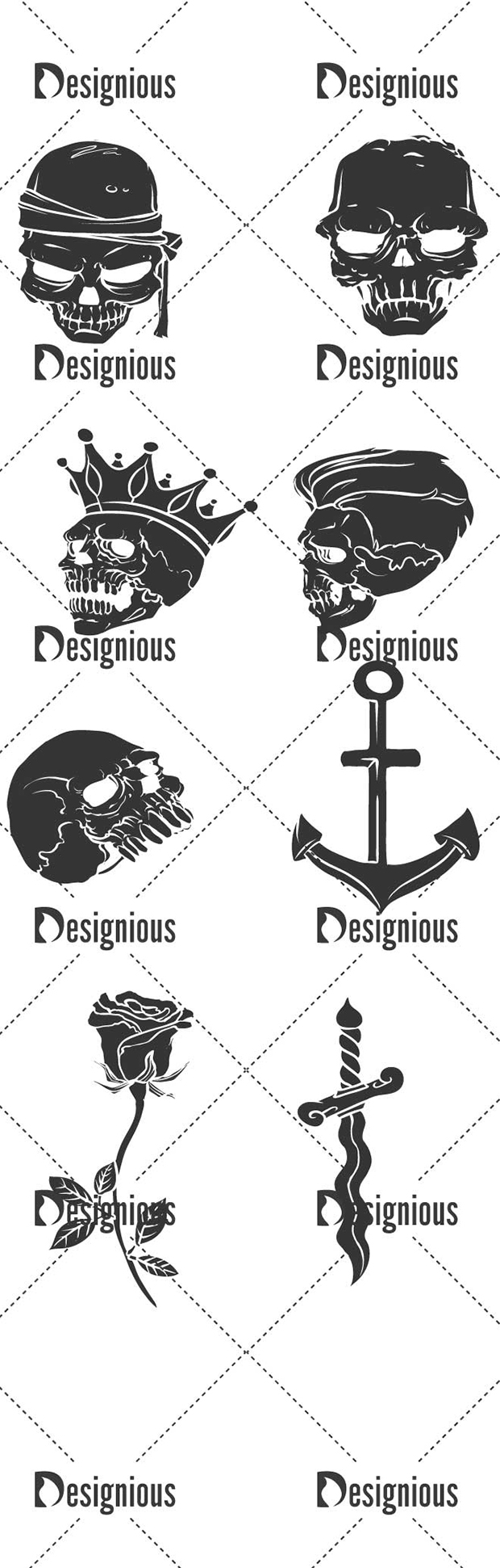 Vector Skulls Pack 46 designious vector skulls pack 39 large preview