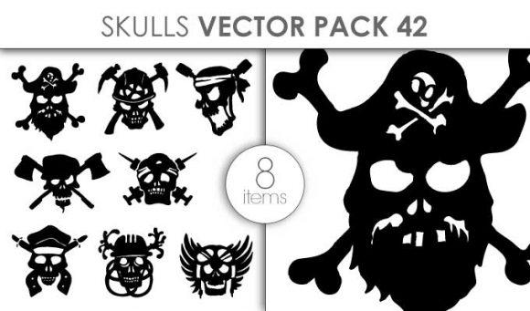 Vector Skulls Pack 42 Vector packs vector