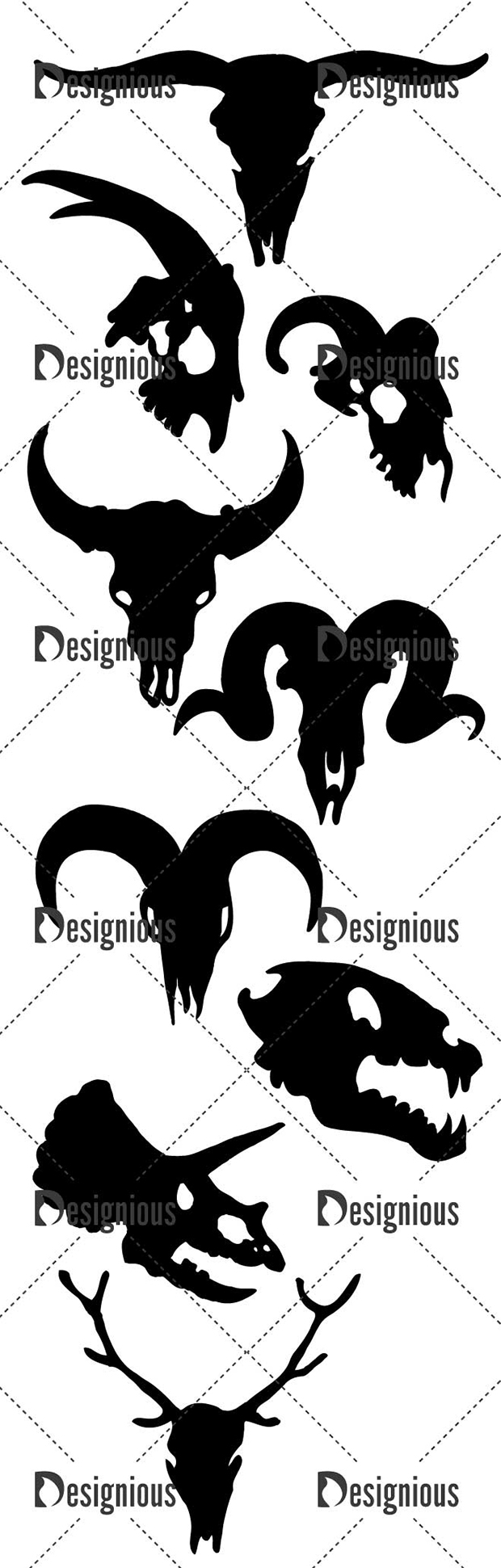 Vector Skulls Pack 43 designious vector skulls pack 43 large preview
