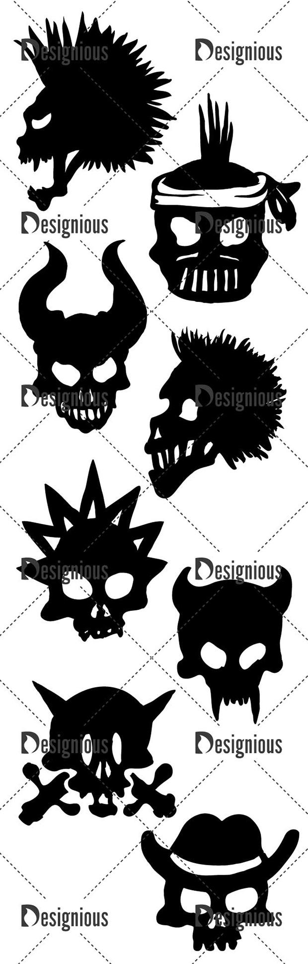 Vector Skulls Pack 44 designious vector skulls pack 44 large preview