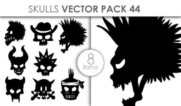 Vector Skulls Pack 44 Vector packs vector