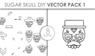 Vector Sugar Skull Kit Pack 1 Vector packs vector