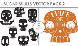 Vector Sugar Skulls Pack 1 Vector packs vector