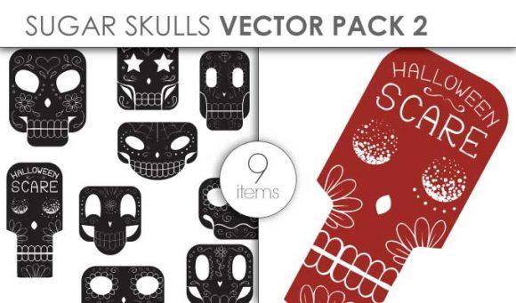 Vector Sugar Skulls Pack 2 Vector packs vector