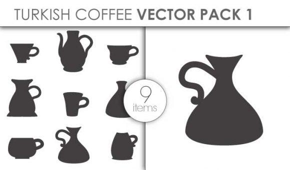 Vector Turkish Coffee Pack 1 Vector packs vector