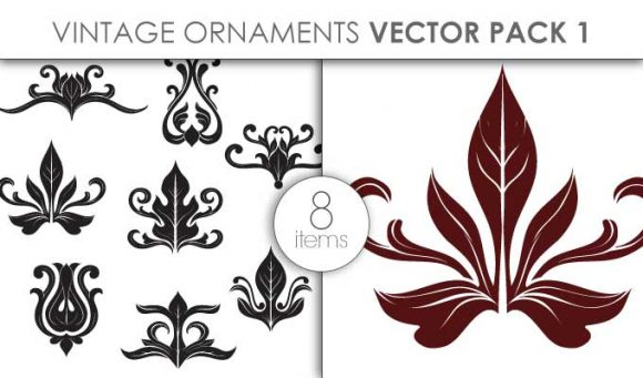 Vector Vintage Ornaments Pack 1 Vector packs vector
