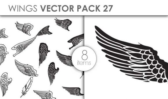 Vector Wings Pack 27 Vector packs vector