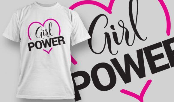 Girl Power T-shirt Design 2 T-shirt Designs and Templates vector