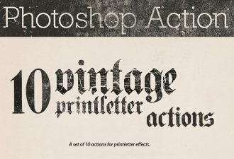 Vintage-printletter-photoshop-actions Add-ons action|aged|grunge|letter|letter-press|old|print|rust|scratch|text|type|type-treatment