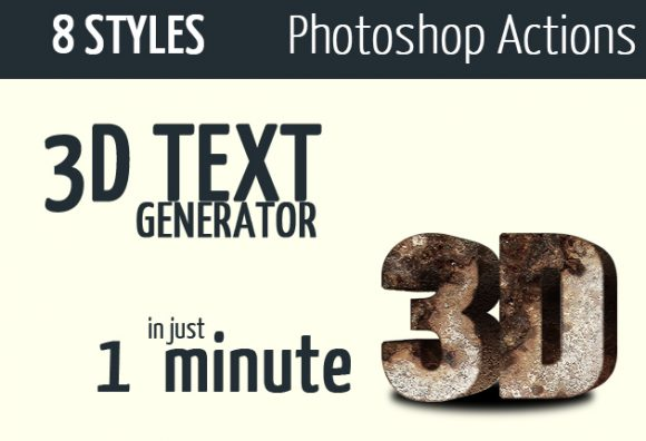 Cinematic-3d-actions---Photoshop-text-effect design tnt photoshop 3d actions set