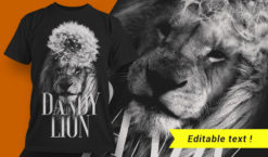 Dandy Lion T-shirt Design T-shirt designs and templates vector