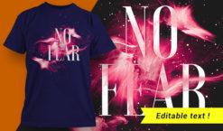No Fear T-shirt Design T-shirt designs and templates vector