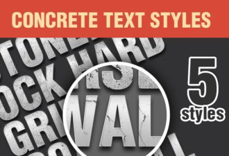 Concrete-PS-Text-Styles-Set-1 Add-ons addon|concrete|style|text