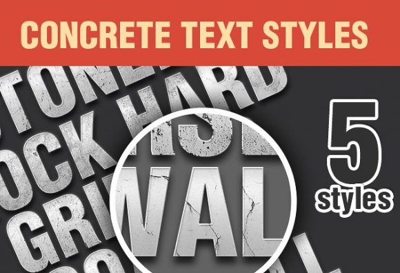 Concrete-PS-Text-Styles-Set-1 Add-ons addon concrete style text