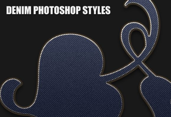 Denim-Photoshop-Styles Add-ons clothing|denim|red|style|text|textile