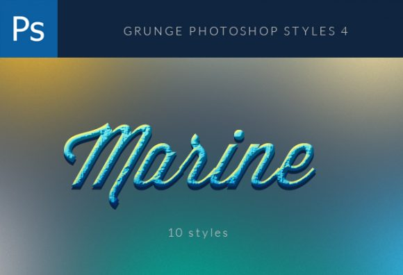 Grunge-Photoshop-Styles-Set-4 Add-ons brick|golden|grunge|marine|metal|moss|styles|watercolor|psd