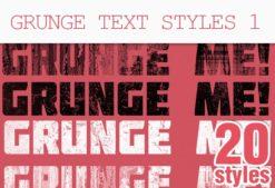 Grunge-Text-Photoshop-Styles Addons grunge|style|text|texture
