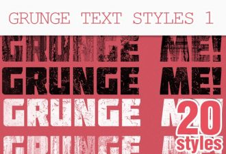 Grunge-Text-Photoshop-Styles Add-ons grunge|style|text|texture