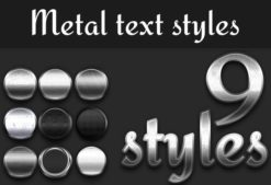 Metal-Styles-for-Photoshop Addons addon|metal|style|text