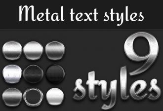 Metal-Styles-for-Photoshop Add-ons addon|metal|style|text
