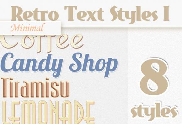 Minimal-Retro-Text-Styles-Set-1 Add-ons minimal retro style text
