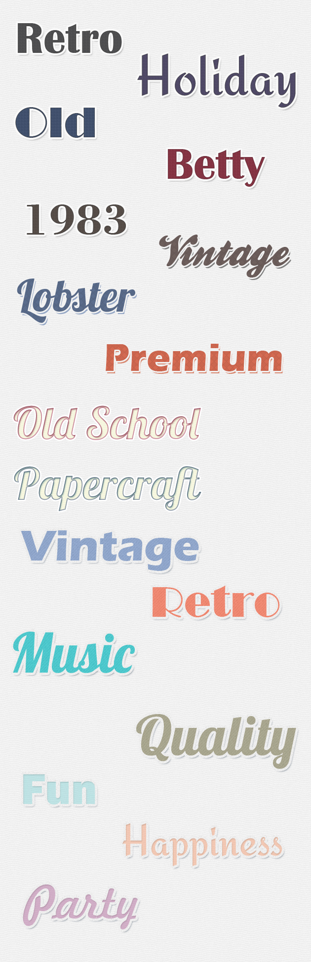 Retro-Text-Styles-for-Photoshop designtnt addons retro text styles large