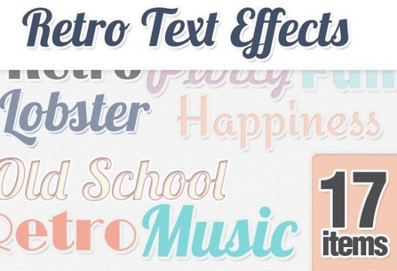 Retro-Text-Styles-for-Photoshop Add-ons minimal|retro|simple|style|text