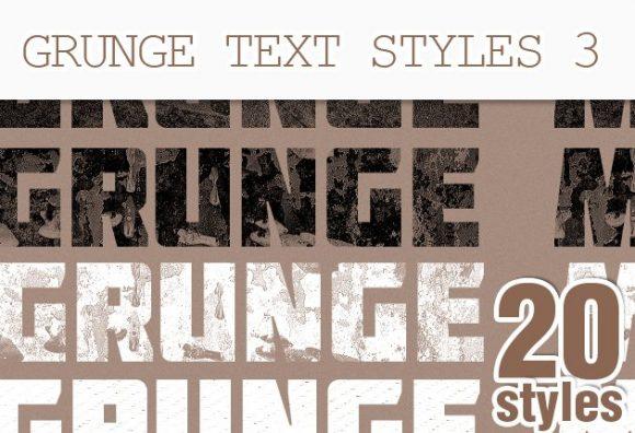 Grunge-Text-Style-Set-3 Add-ons addon|dirt|grunge|grunger|style|text