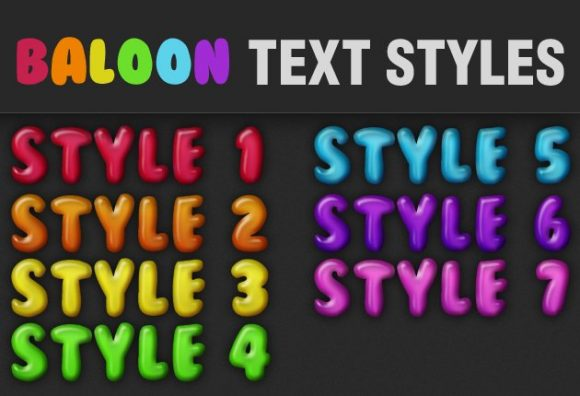 Baloon-Text-Styles-for-Photoshop designtnt baloon text styles small