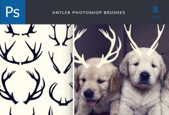 Antlers-Brushes-Set-1 Photoshop Brushes abr|antler|brush|funny|puppy