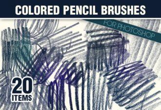 Colored-Pencils-Photoshop-Brushes Photoshop Brushes brush|brushes-2|colored|pencil