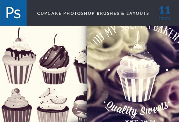 Cupcakes-Brushes-Set-1 Photoshop Brushes abr|brush|cupcakes|delicious|quality