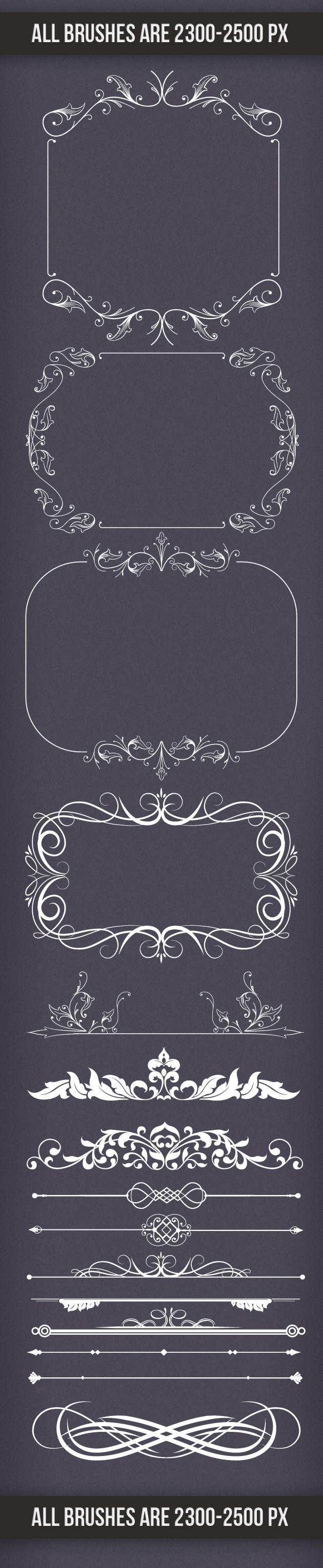 Decoration-Frames-and-Dividers-PS-Brushes designtnt brushes decoration frames large