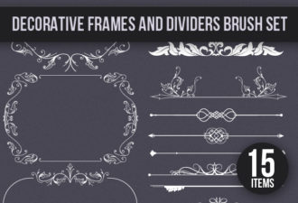 Full library Pricing designtnt brushes decoration frames small