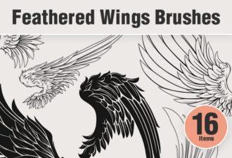 Feathered-Wings-PS-Brushes Photoshop Brushes angelic|bird|brushes-2|feathered|wing
