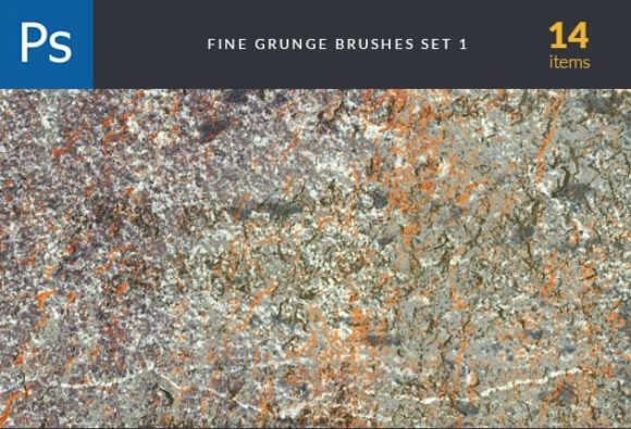 Fine Grunge Brush Set 1 designtnt brushes fine grunge 1 small