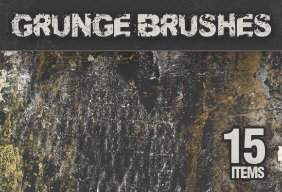 Grunge-PS-Brushes-Set-2 designtnt brushes grunge 2 small