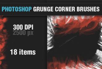 Grunge-Corner-PS-Brushes Photoshop Brushes aged|brush|corner|Editor's-Picks-–-Brushes|grunge