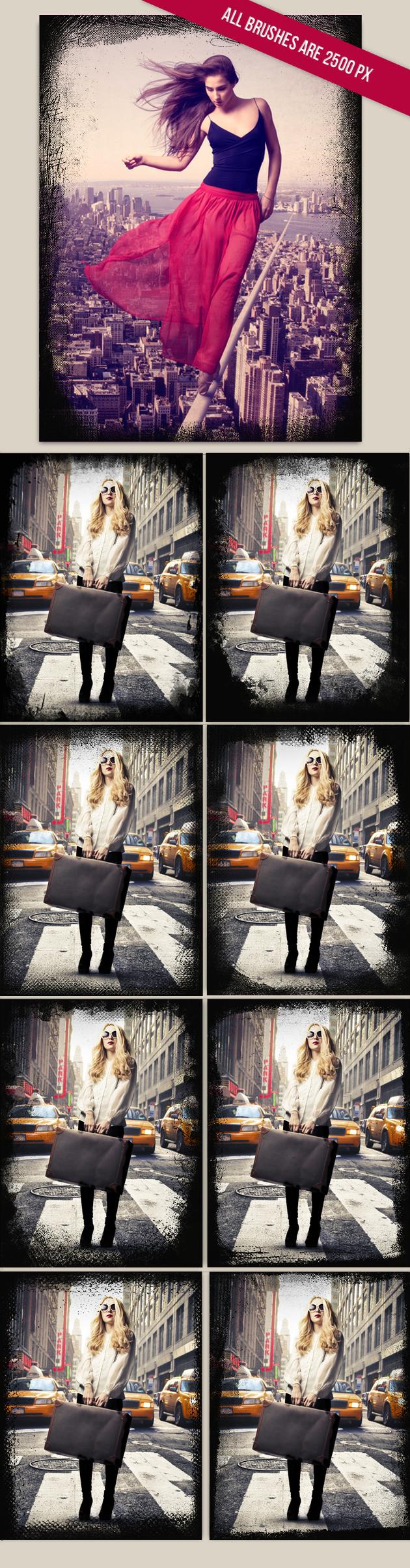 Grunge-Frames-Photoshop-Brushes designtnt brushes grunge frames large