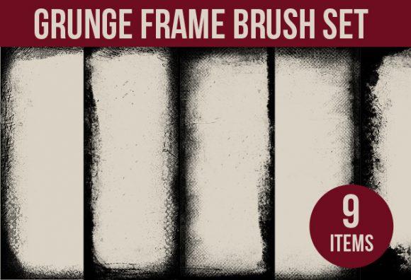 Grunge-Frames-Photoshop-Brushes designtnt brushes grunge frames small
