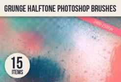 Halftone-Ps-Brushes-Set-2 Addons brush|Editor's-Picks-–-Brushes|grunge|halftone|print