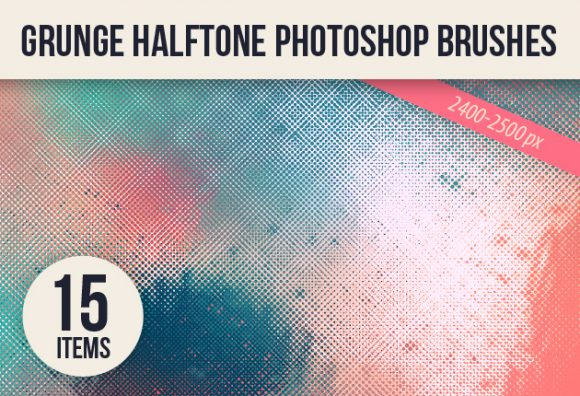 Halftone-Ps-Brushes-Set-2 designtnt brushes grunge halftones small