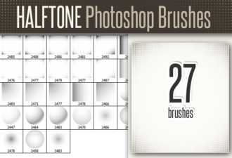 Full library Pricing designtnt brushes halftones set small