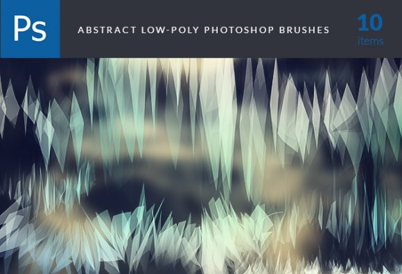 Low-Poly-Brushes-Set-1 Photoshop Brushes abr|abstract|brush|eclectic|Editor's-Picks-–-Brushes|low-poly