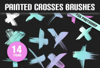 Full library Pricing designtnt brushes painted crosses small