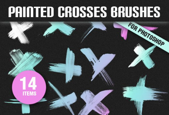 Painted-Crosses-PS-Brushes Photoshop Brushes brush|cross|grunge|painted