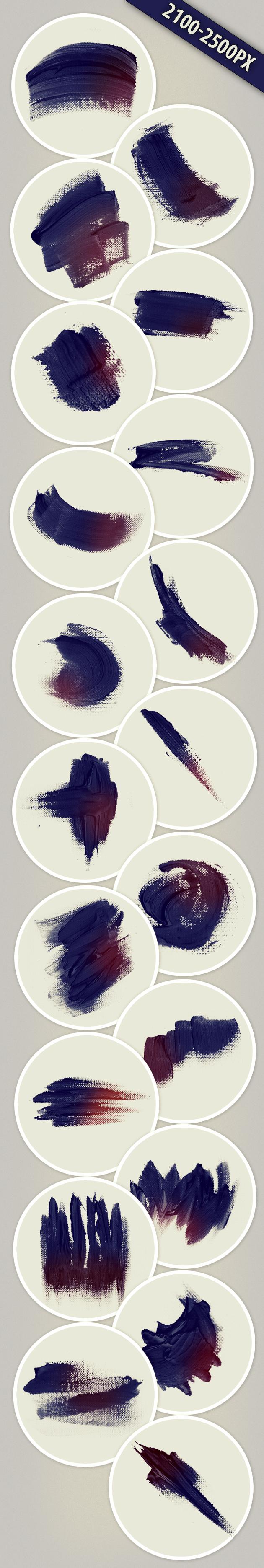 Paint-Strokes-PS-Brushes designtnt brushes paintstrokes large
