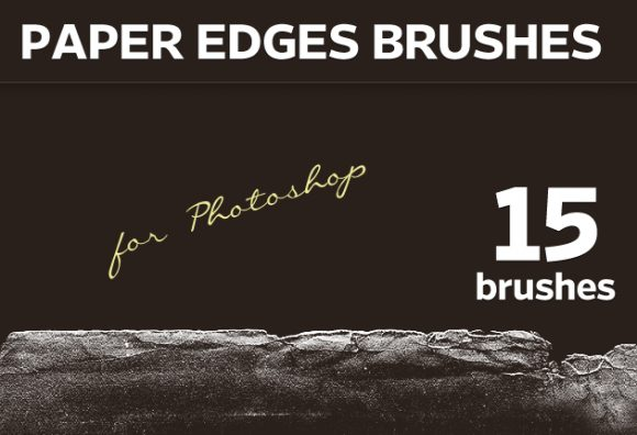 Paper-Edges-Photoshop-Brushes Addons brush|edge|paper|torn